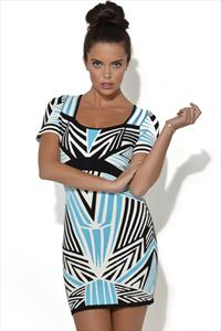 Aztec Print Bandage Dress