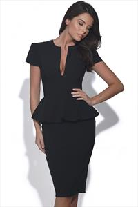 Flattering Peplum Dress