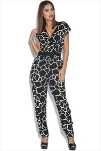 Little Mistress Graphic Print Jumpsuit