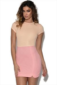 RARE Peach And Pink Mini Dress