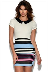 Contrast Striped 2 in 1 Dress