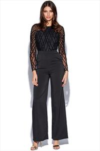 Lavish Alice Cross Hatch Velvet Sequin Jumpsuit
