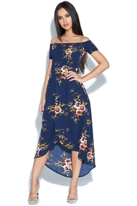 Floral Bardot Dress