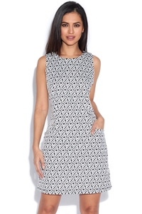 Sleeveless Monochrome Dress