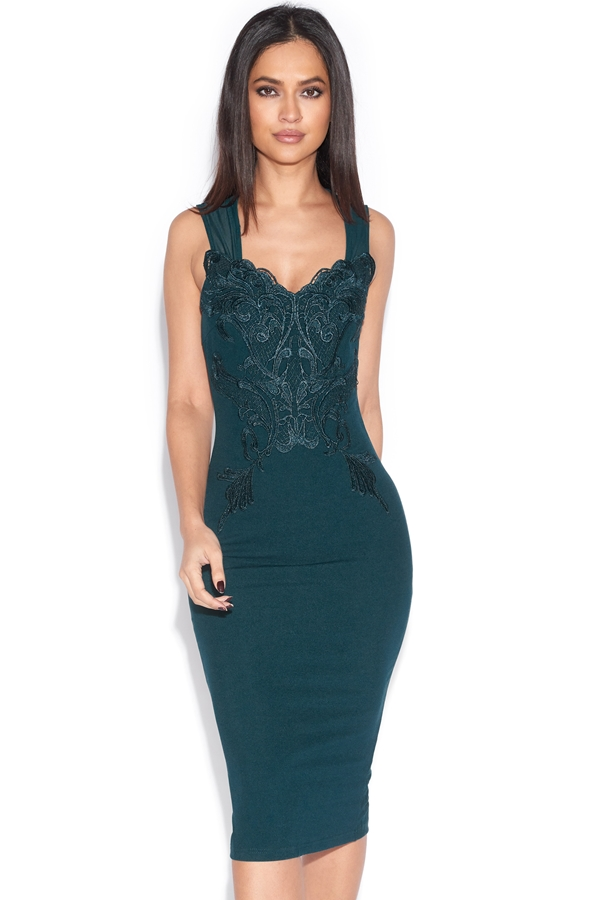 Sweetheart Mesh Bodycon Dress