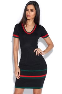 Short Sleeved Knitted Bodycon Dress