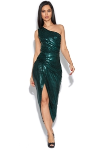 Luxe Sequin One Shoulder Dress