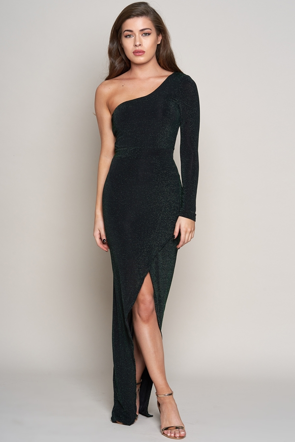 One Shoulder Sparkle Dress