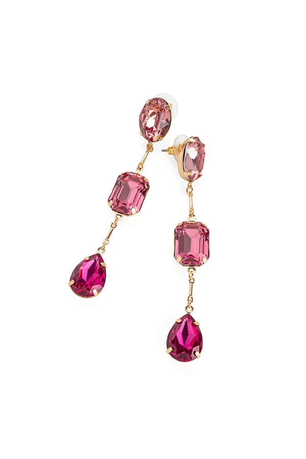 Pretty in Pink Gem Drop Earrings