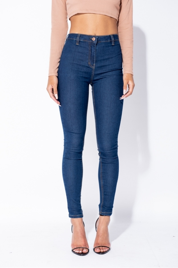 Jeggings High Waisted Indigo