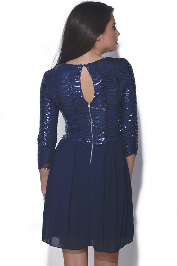 TFNC Scalloped Embellished Dress