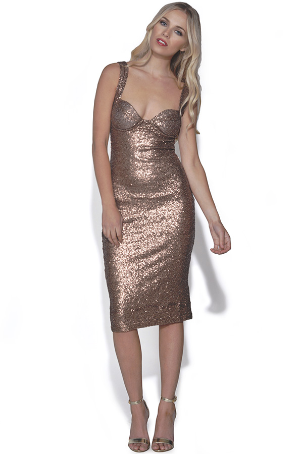 Sequin Midi Bodycon Dress