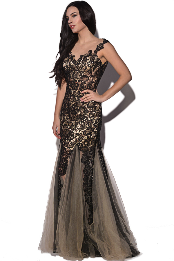 Luxe Collection Lace Embellished Gown