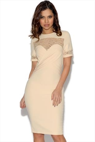 3b35092acf Paper Dolls Pleated Front Lace Detail Dress