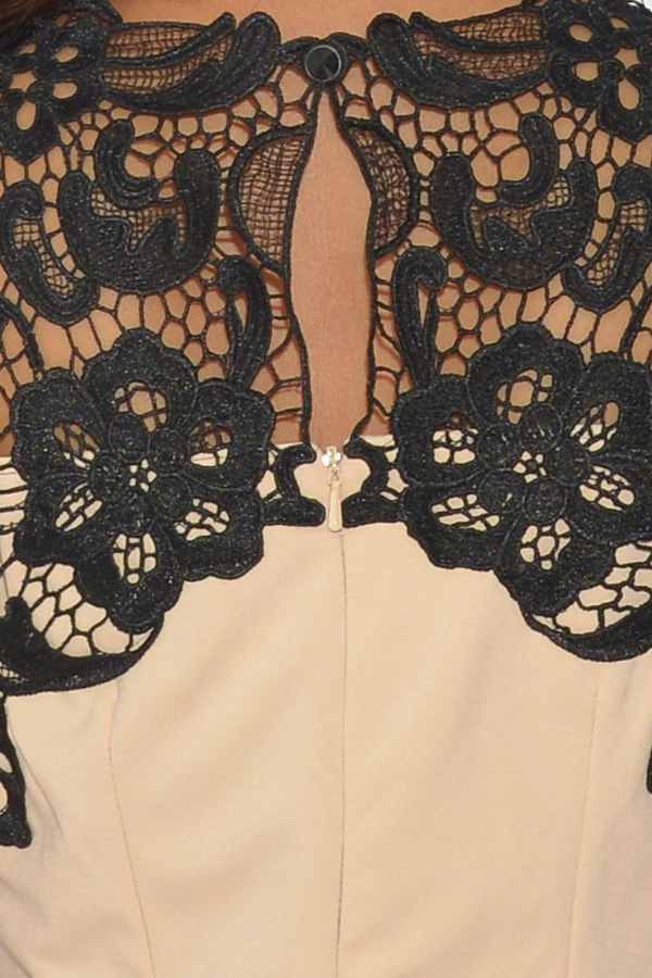 Little Mistress Baroque Lace Wrap Dress
