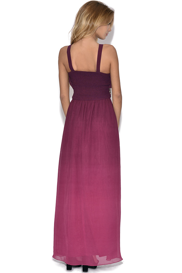 Little Mistress Two Tone Embellished Maxi Dress