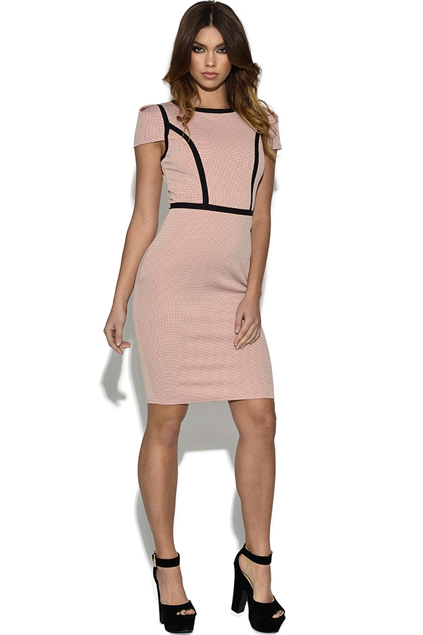 Paper Dolls Pink Structured Wiggle Dress