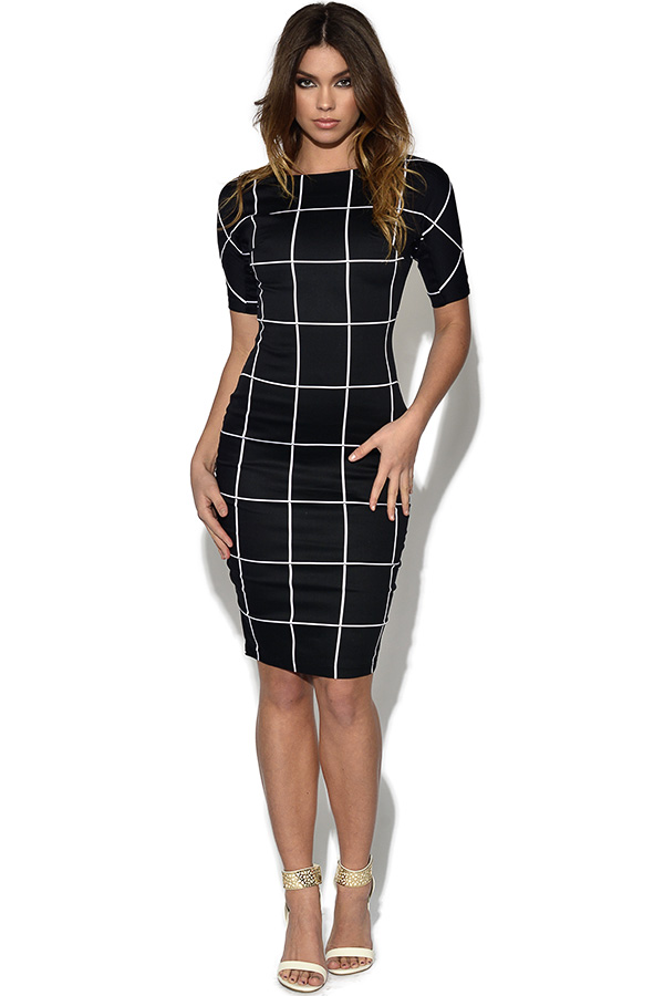 AX Paris Monochrome Midi Dress