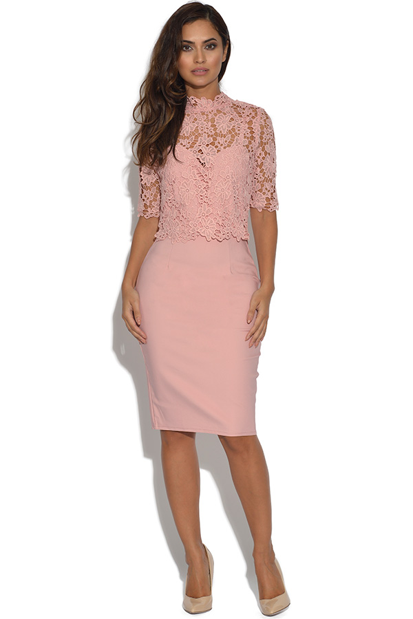 Paper Dolls Floral Lace Overlay Dress