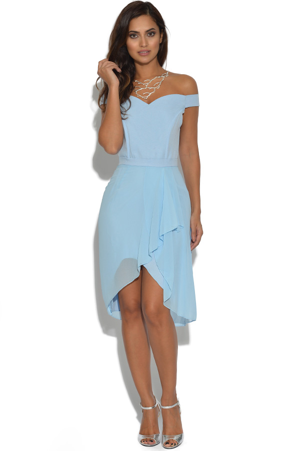 Lydia Rose Bright Blue Sweetheart Bandeau Dress