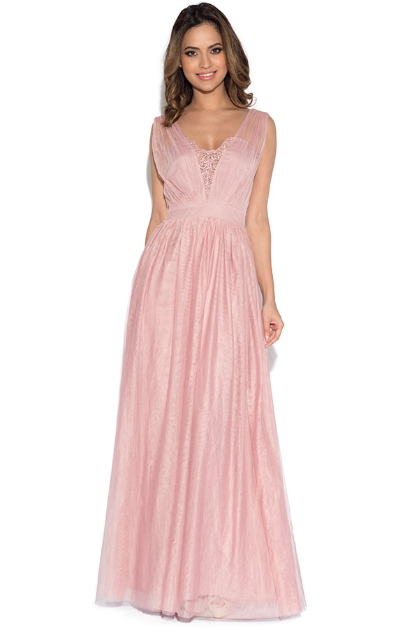Little Mistress Rose Jewel Bust Maxi Dress