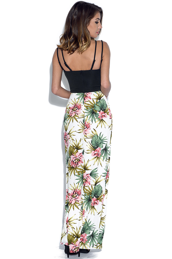 RARE Strappy Plunge Floral Maxi Dress