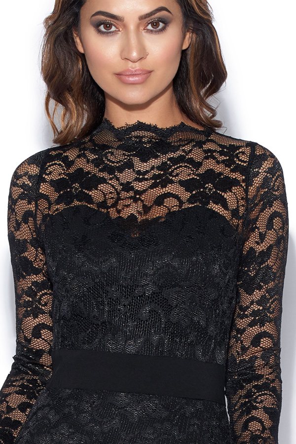Long Sleeved Lace Bodycon Dress