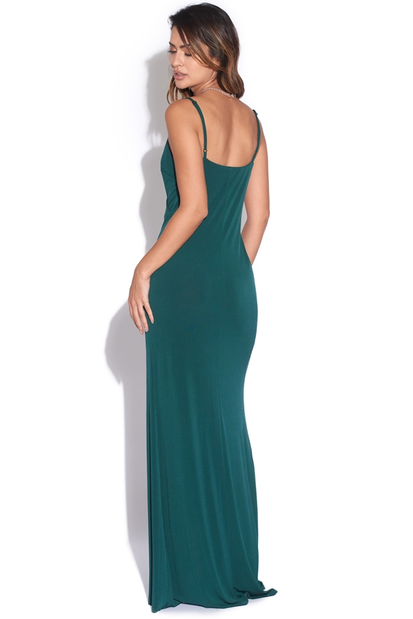 Strappy Maxi Dress in Forest Green | Vestry