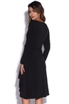 Flattering Long Sleeve V Neck Wrap Dress