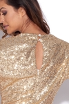 V Neck Sequin Dress