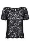 Pia Black Lace Top