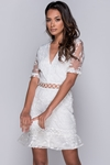 Lace Frill Hem Mini Dress