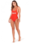 Red Mermazing High Leg Swimsuit