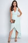 V Neck Chiffon Maxi Dress