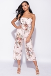 Floral Bandeau Cut Out Culotte Jumpsuit