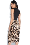 Leopard Wrapover Skirt