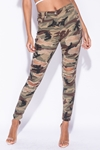 Camouflage Distressed Skinny Jeans