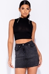 Skinny Rib Knit Crop Top