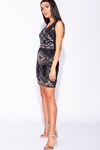 Geometric Sequin Bodycon Mini Dress