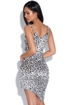 Leopard Velvet Asymmetric Bodycon Dress