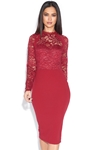 Long Sleeve Lace Top Dress