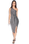 Metallic One Shoulder Dress