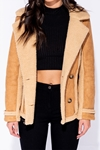 Camel Shearling Jacket
