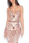 Luxe Sequin Plunge Sweetheart Dress