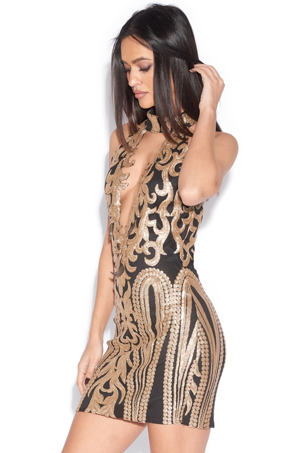 Luxe Keyhole Bust Bodycon Dress