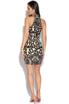Luxe Sequin Embellished Illusion Dress