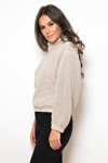Cold Shoulder Roll Neck Jumper