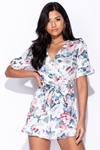 Floral Wrap Playsuit