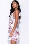 Floral Frill Detail Mini Dress
