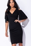 Frill Sleeve Wrap Front Dress
